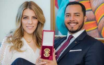 The youngest ambassador to receive the Al Wajba Medal